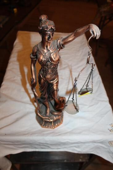 "Scales Woman Sculpture, 17"""