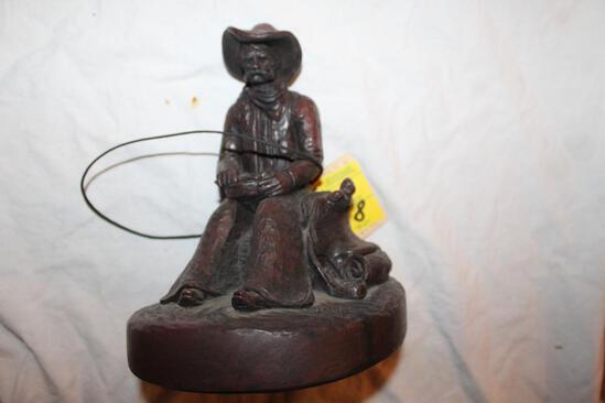 """Cowboy Sculpture by Largo, 9""""hx7"""""""