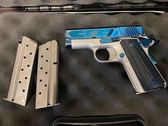 KIMBER SAPPHIRE ULTRA II SPECIAL EDITION 9MM HANDGUN WITH 3 CLIPS AND HARDCASE, SN KSU1319