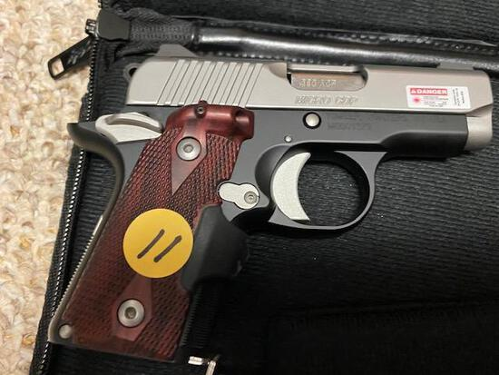 KIMBER .380 ACP MICRO CDP, LASER GRIPS, CRIMSON TRACE, 3 CLIPS, SOFT CASE, SN M0001379