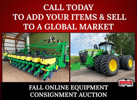 FALL ABSOLUTE ONLINE EQUIPMENT CONSIGNMENT AUCTION