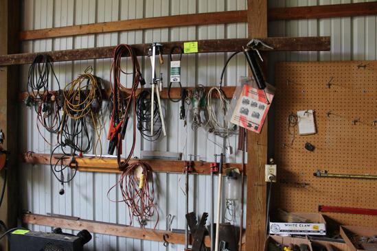 CORDS, JUMPER CABLE, PIPE CLAMPS, GREASE GUN