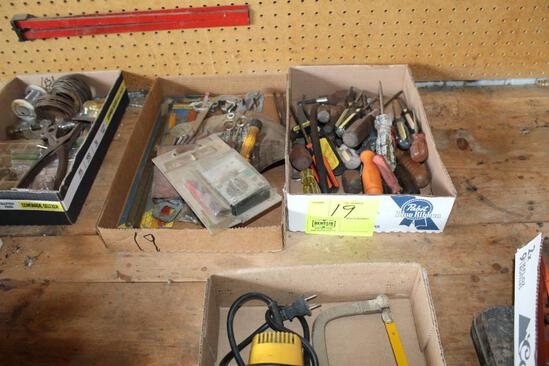 (2) BOXES, SCREWDRIVERS, ALLEN WRENCHES