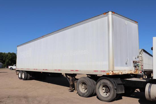 "***1998 Wabash 48'x102"" Tandem Axle Dry Van Trailer, Air Ride, Gauge, Dump"