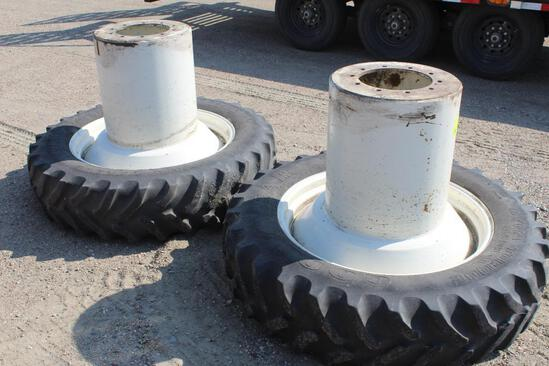 Pair of Front Duals off of New Holland Genesis 70 Series
