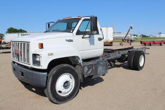 ***1990 GMC Top Kick Single Axle Cab & Chassis Truck, 17.5' of Frame Behind Cab,