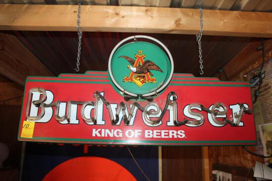 "Approx 14""x30"" Budweiser ""King of Beer"" Neon Light"