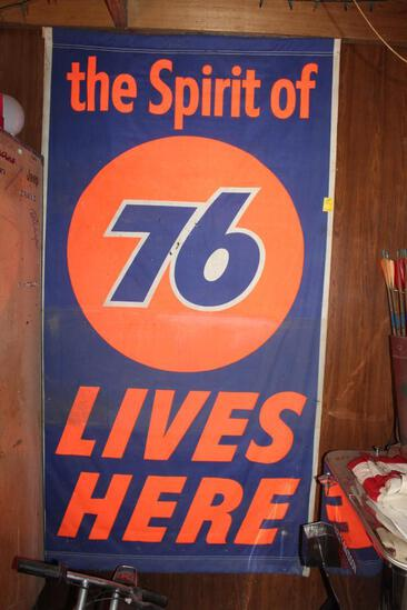 "43.75""x82.5"" ""The Spirit of 76 Lives Here"" Vinyl Sign"