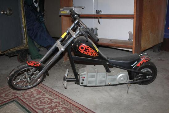 Razor Electric Chopper Motorcycle, Untested