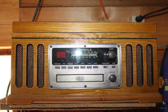 Detrola AM/FM Radio, Cassette, CD Player, and Turntable
