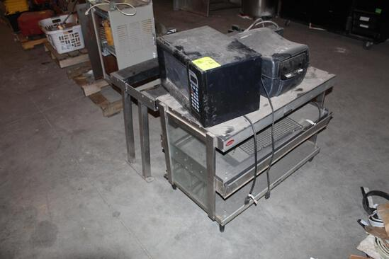 Paper Towel Dispenser, Microwave, Stainless Steel Stand
