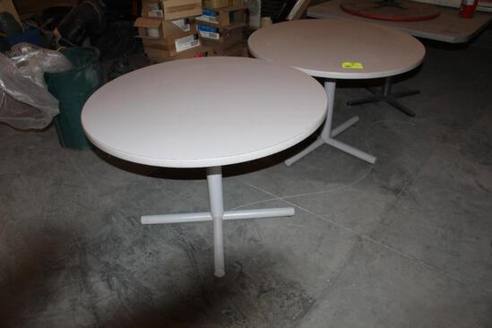 """(2) 42"""" Round Tables"""