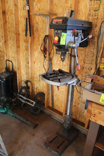 """CRAFTSMAN 1 HP FLOOR MODEL DRILL PRESS, WITH LASER TRAC, 4"""" VISE"""