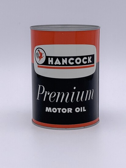 Full 1 Quart Can Hancock Premium Motor Oil TAC 9.25