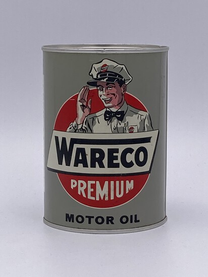 Full 1 Quart Can Wareco Premium Motor Oil TAC 9.0