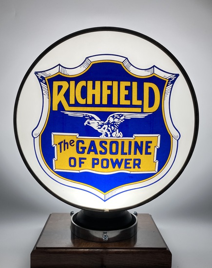 Richfield The Gasoline of Power Single Lens Globe Body