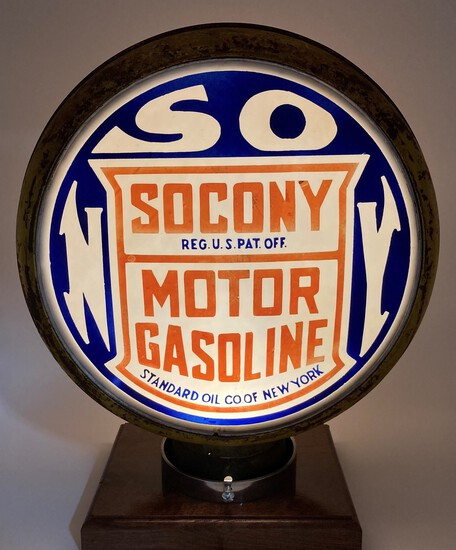 Socony Gasoline Standard Milk Glass Complete Globe Body