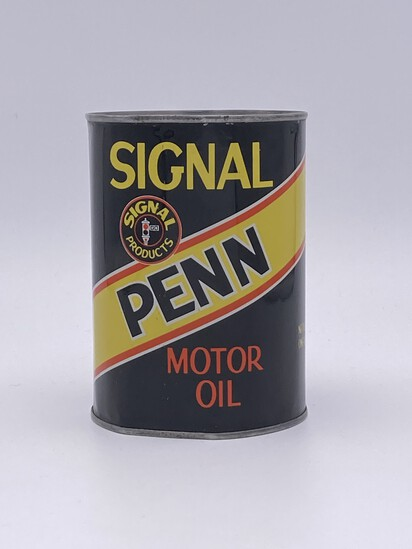 Full 1 Quart Can Signal Penn Motor Oil w/ Logo TAC 8.25