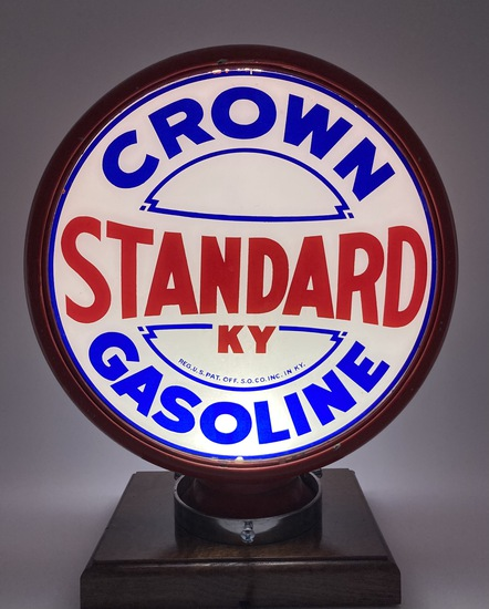 "Standard KY Crown Gasoline Complete Globe Body 15"" Lenses"