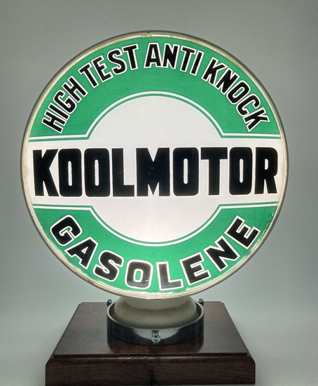 "Koolmotor High Test Anti Knock Gasoline Complete Globe Body 15"" Lenses"