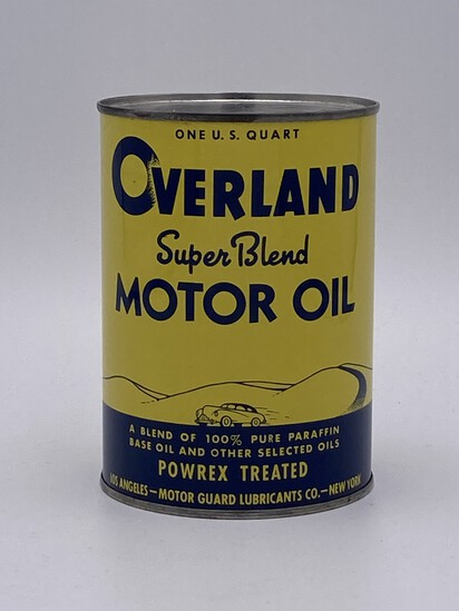 Full 1 Quart Can Overland Super Blend Motor Oil TAC 9.75