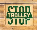 Trolley Stop Double Sided Porcelain Flange Sign TAC 8.9