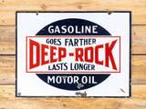 Deep-Rock Gasoline Motor Oil Double Sided Porcelain Sign TAC 8.5 & 8