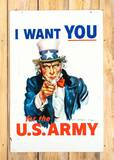 I Want YOU For The U.S. Army Uncle Sam DS Metal Sign TAC 8.5 & 8