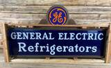 8' General Electric Refrigerators Milkglass Lighted Sign