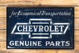 Chevrolet in Bowtie Genuine Parts SST Wood Framed Metal Smaltz Sign TAC 7.5