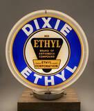 Dixie Ethyl & Gasoline Oils Power to Pass Gas Globe Circa 1930's