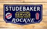 Studebaker Rockne Authorized Service Genuine Parts Double Sided Porcelain Sign TAC 9.25