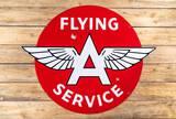 Flying A Service w/ Logo Single Sided Porcelain Diecut Flat Sign TAC 8.5