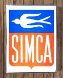 Simca Logo Plastic Lighted Sign TAC 9