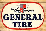1947 The General Tire Single Sided Masonite Sign TAC 9