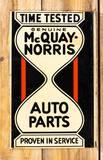 McQuay Norris Auto Parts Metal Flange Sign TAC 9