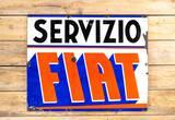 Fiat Servizio Service Single Sided Porcelain Sign