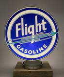 Scarce Circa 1930's Flight Gasoline Blue/Teal Arrow 15