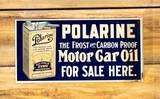 Polarine Motor Car Oil For Sale Here Metal Flange Sign TAC 9 & 8