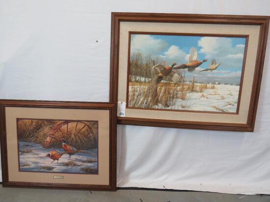 HEARTLAND HERITAGE-PHEASANTS By ROSEMARY BILLETTE & THE OLD FENCEROW-PHEASANTS By DAVID A. MASS
