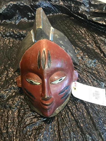 Awesome looking old African Ivory Coast Mask Oddity taxidermy