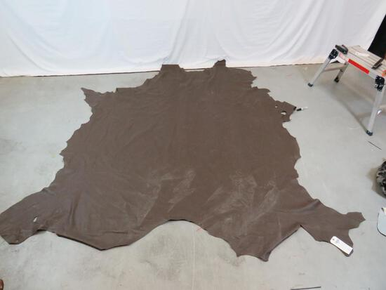 BIG CHUNK OF BROWN LEATHER FOR UPHOLSTRY