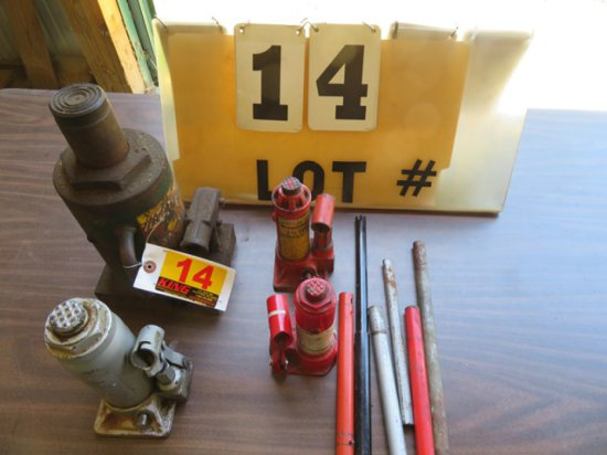 (4) Hydraulic Jacks - (1) 20-Ton, (1) 6-Ton, (2) 1 1/2-Ton