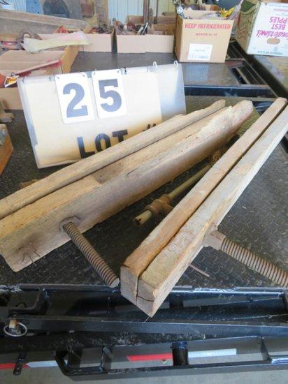 (2) Vintage Wood Working Vises