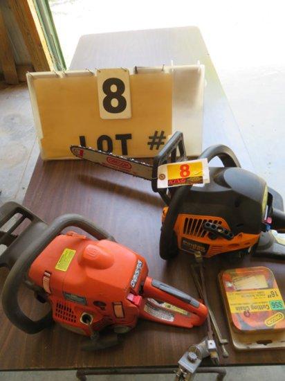 "Poulan Pro 16"" Chain Saw, Husqvarna 435 Chain Saw (Engine Stuck)"