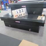 Weather Guard Aluminum Saddle Box, Black