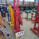 ATD 2-Ton - 1/2-Ton Foldable Engine Crane