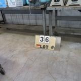 (2) Metal Work Tables - (1) has Wilton 6