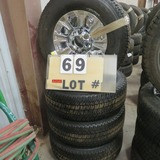 (4) Michelin New Take-Off Tires w/8-Lug