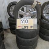 (4) Continental  Take-Off Tiresw/6-Lug Wheels,